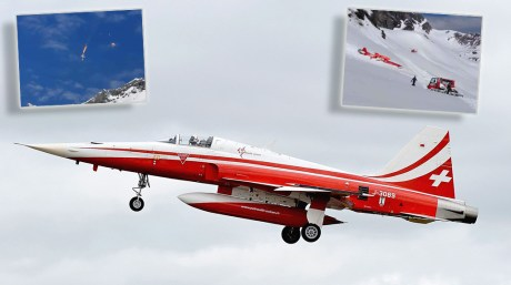 Swiss Air Force F-5E Tiger Aircraft Crashes In Central Switzerland. Pilot Successfully Ejects.