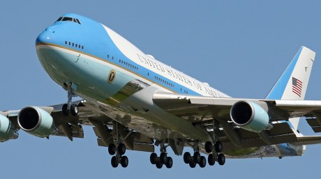 A Close Look at Air Force One's Visit to Detroit and the Presidential Motorcade.