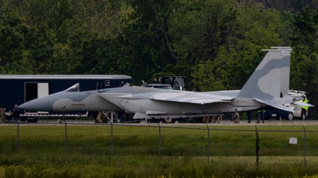 Here Are Some Photos Of The F-15QA Being Recovered After Ground Incident At Airport Near St. Louis