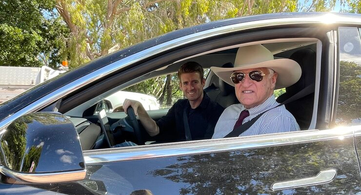 'Bringing people along for the ride': meet the climate activist converting coalminers to green tech with his Tesla